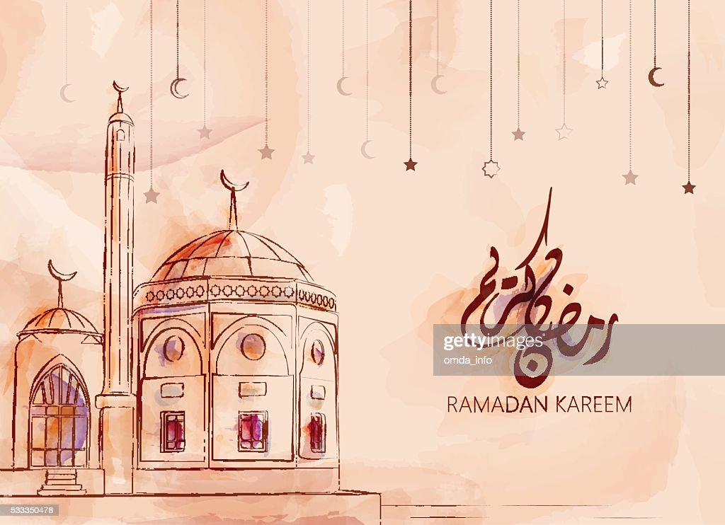 Illustration of Ramadan kareem and Ramadan mubarak