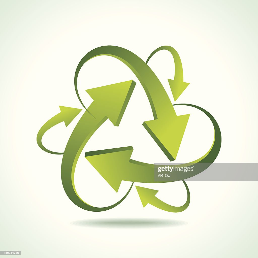 illustration of recycle arrow