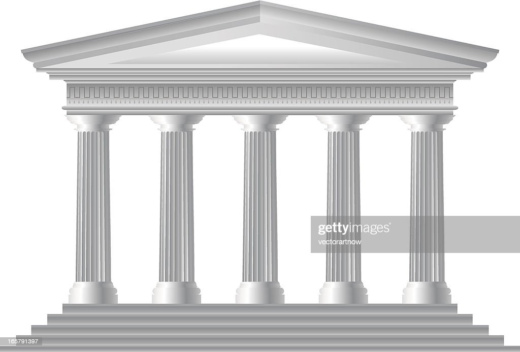 Illustration of Roman temple facade