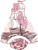 Illustration of sailing ship