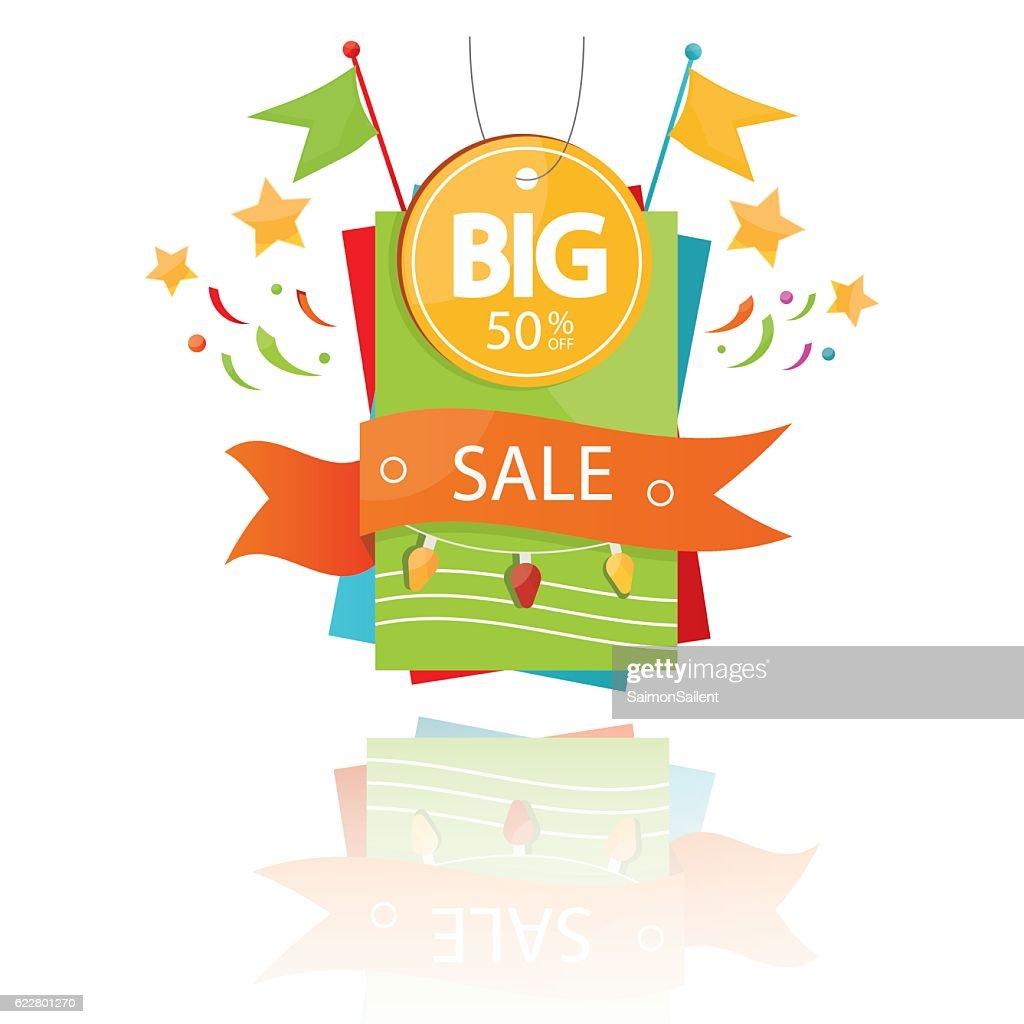illustration of sale design elements