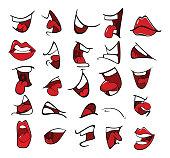 Illustration of  Set of Mouths