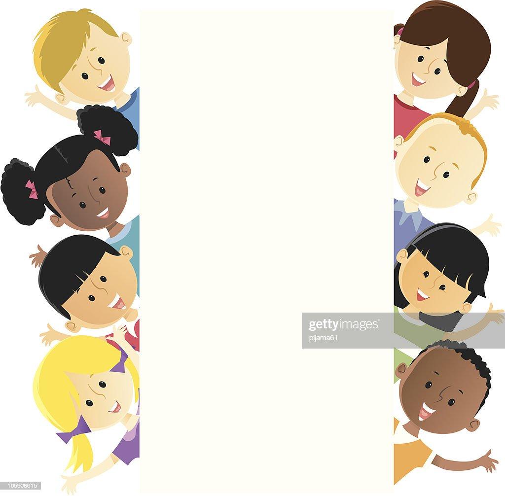 Illustration of several different children : stock illustration