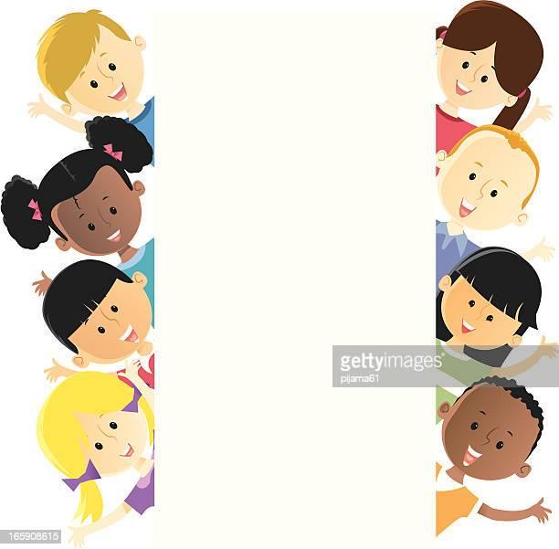 Illustrazione di vari bambini