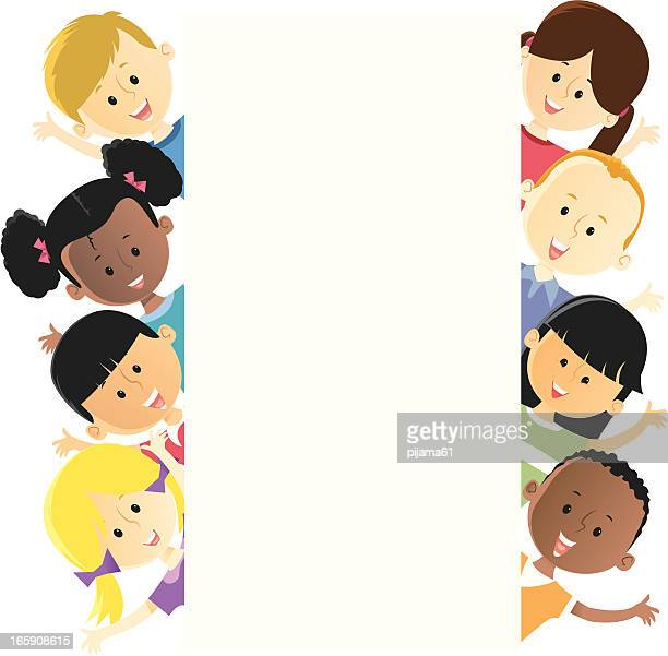 Illustration of several different children