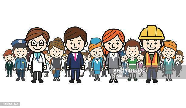 ilustraciones, imágenes clip art, dibujos animados e iconos de stock de diversas profesiones - soldador