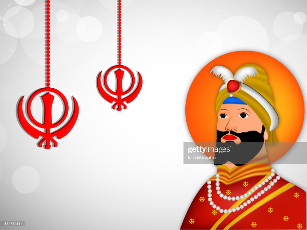 illustration of Sikh festival Guru Gobind Singh Jayanti background