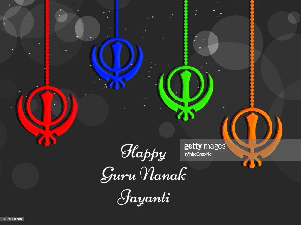 illustration of Sikh festival Guru Nanak Jayanti Background