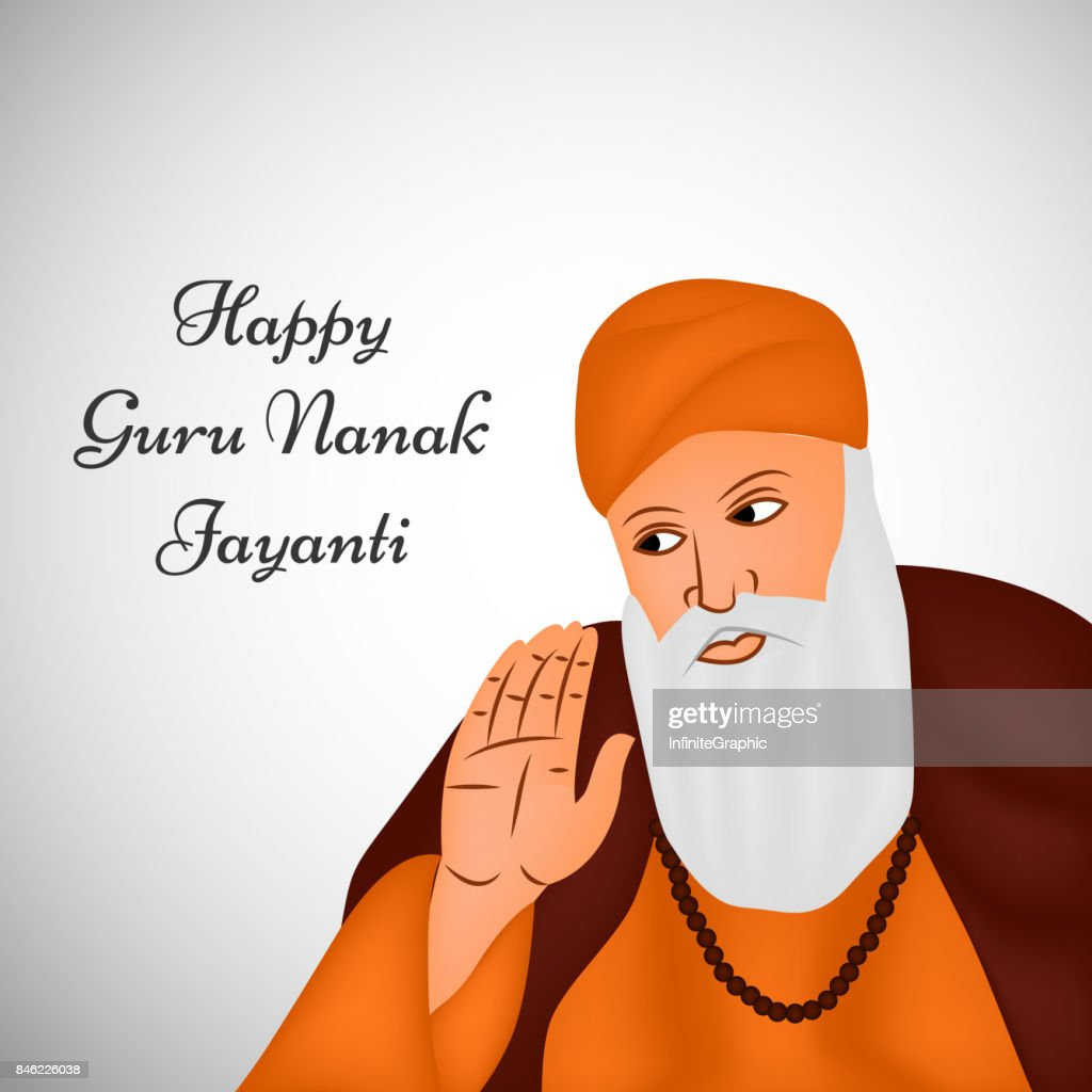 illustration of Sikh festival Guru Nanak Jayanti Background