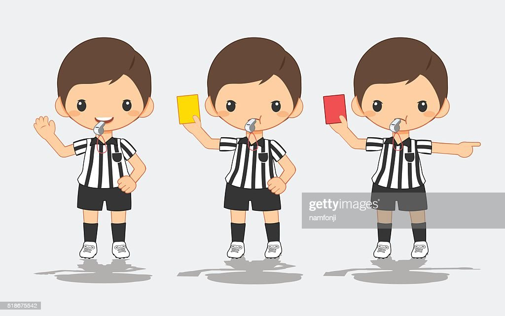 illustration of soccer referee