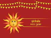 Illustration of Sri Lanka New Year background
