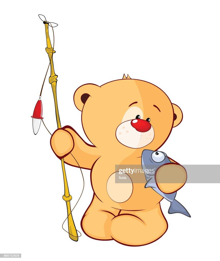 Illustration of  Stuffed Toy Bear Cub Cartoon Character