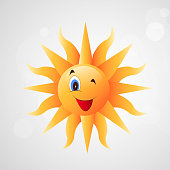 Illustration of sun for summer season background