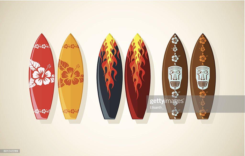 Illustration of surf boards