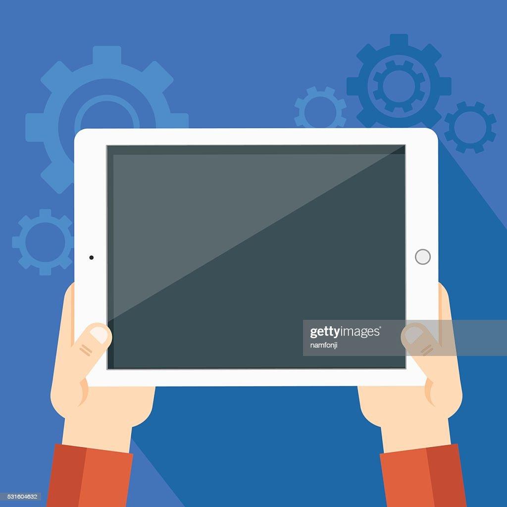 illustration of tablet pc