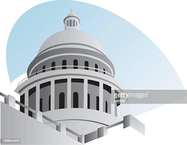 illustration of the capitol dome on white background - senate stock illustrations