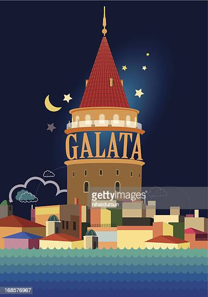 Illustration of the Galata Tower