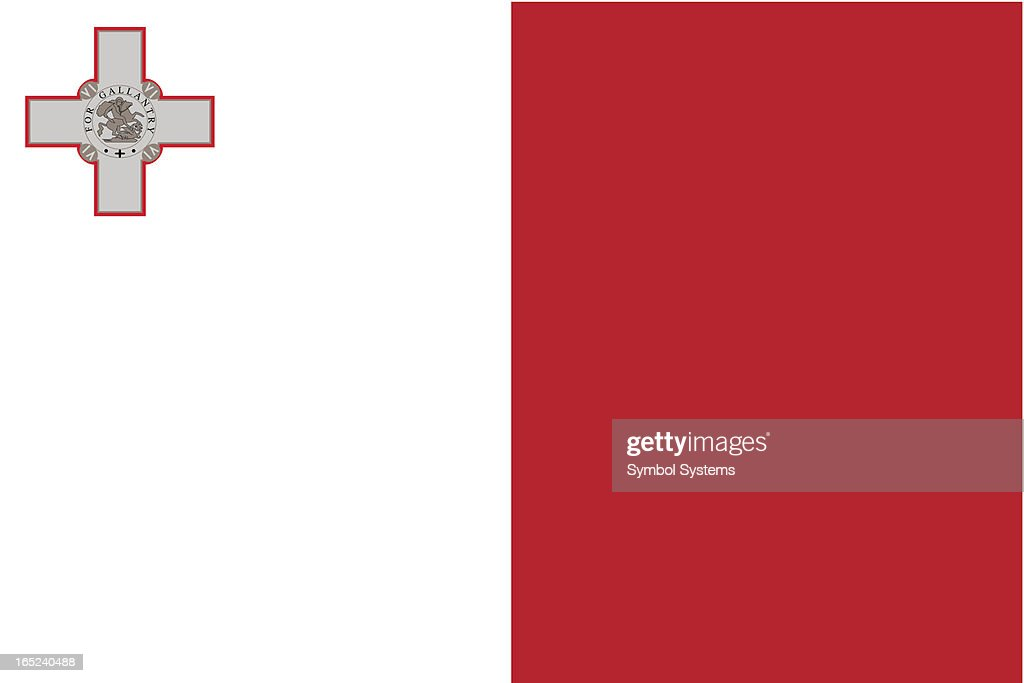 Illustration of the Malta flag as an entire background