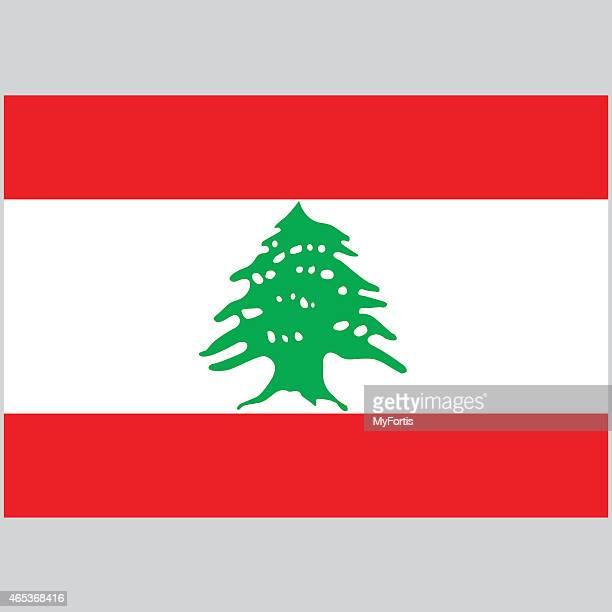 illustration of the national flag of lebanon - lebanon stock illustrations
