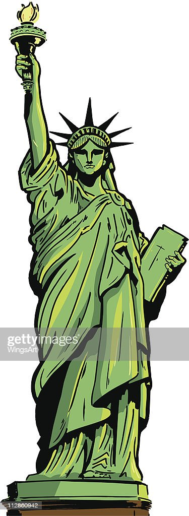 Illustration of the Statue of Liberty