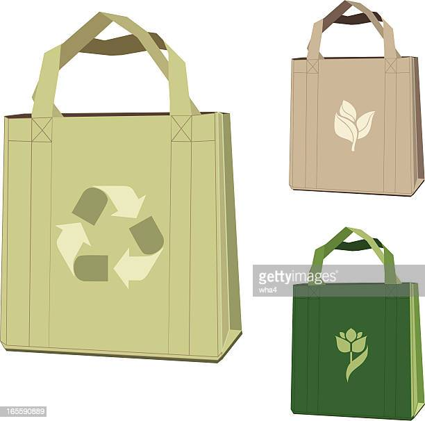 Illustration of three cloth bags