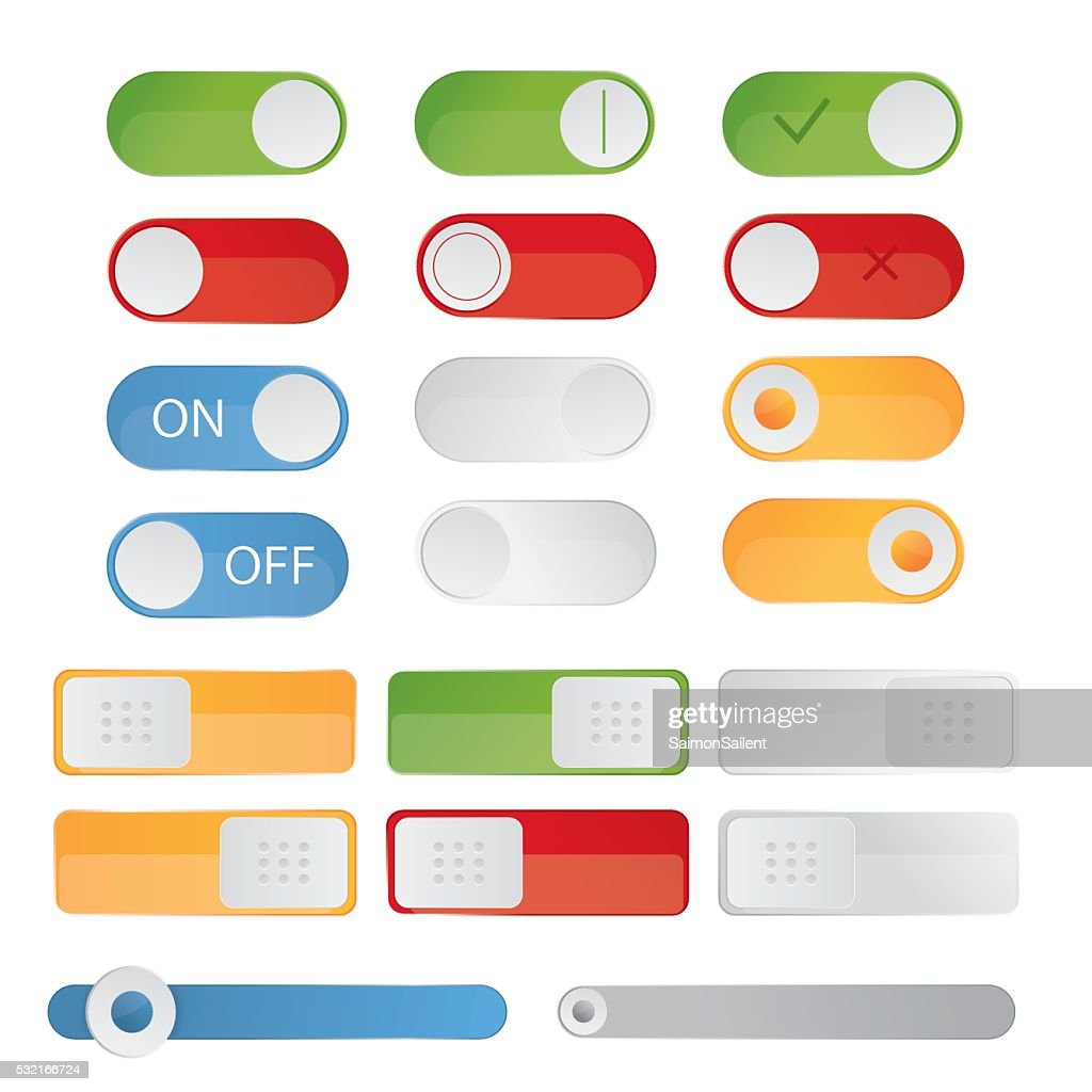 illustration of toggle switch icons. On and Off position,