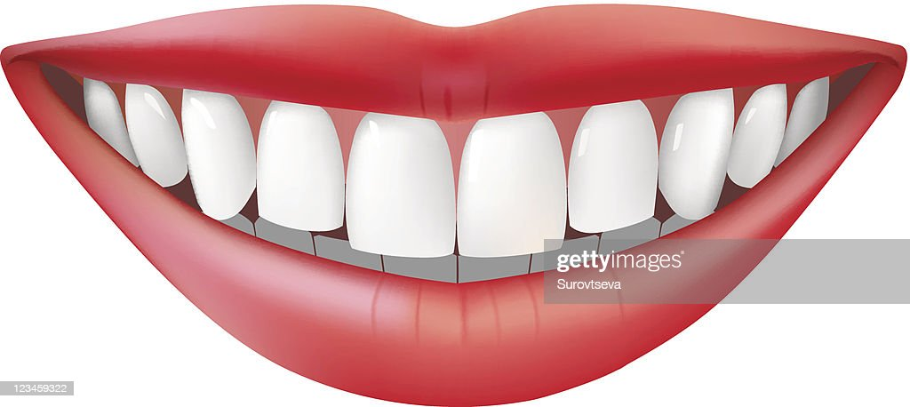 3D illustration of toothy smile