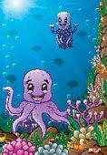 illustration of under the sea