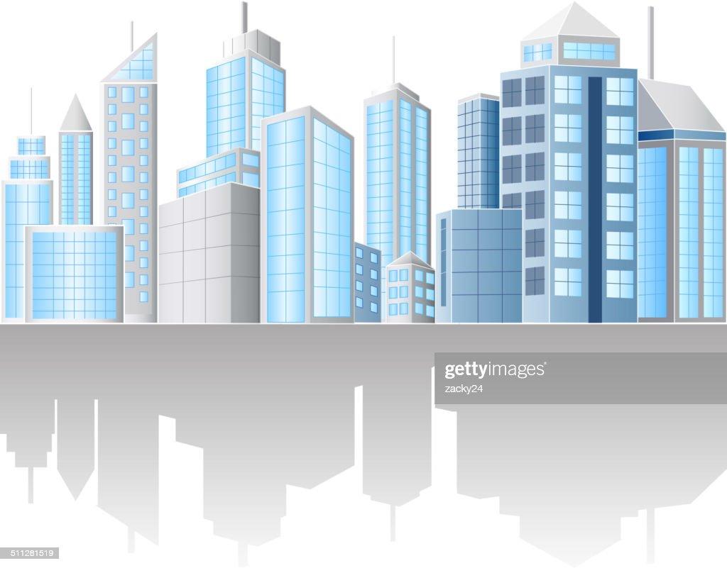 illustration of urban cityscape