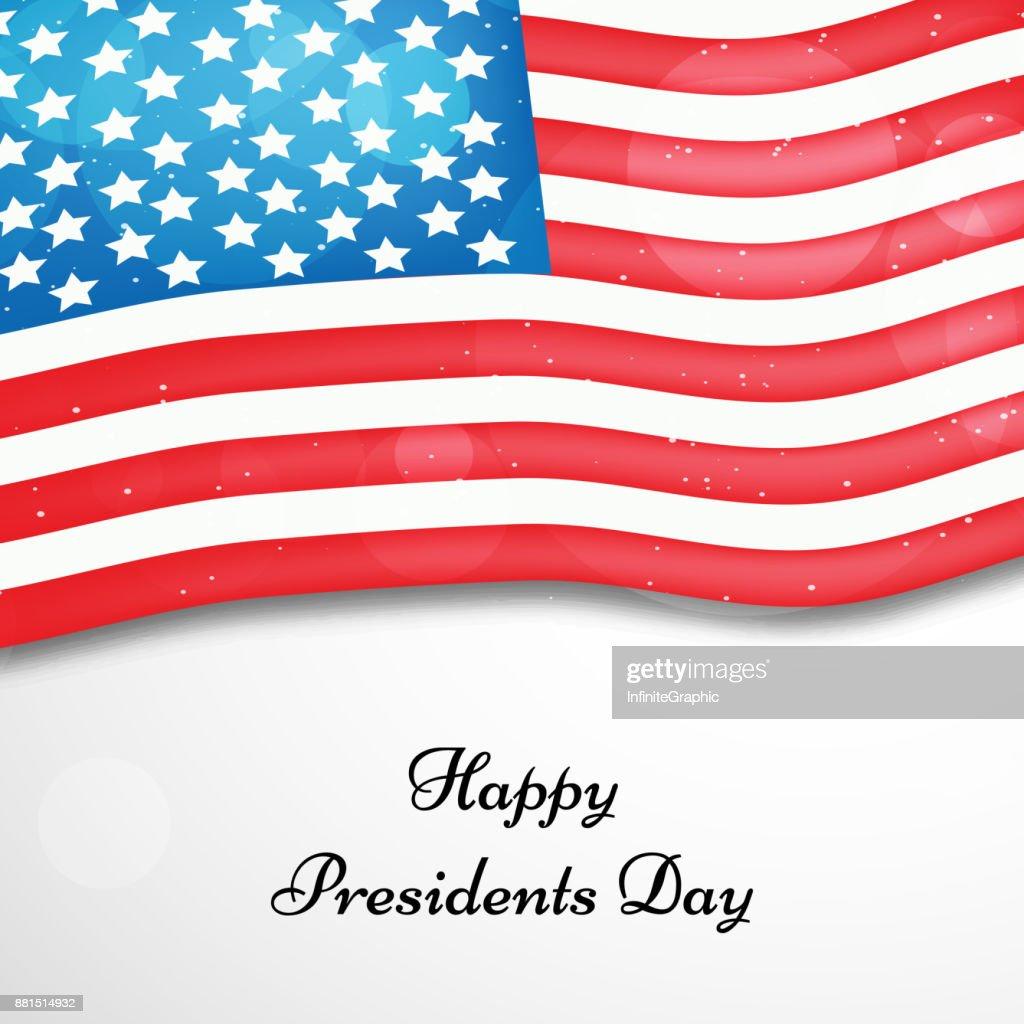 illustration of U.S.A Presidents Day background
