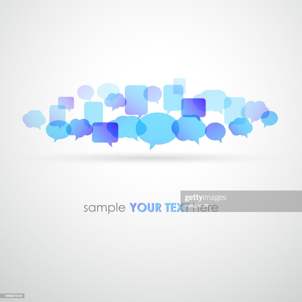 Illustration of variety of speech bubbles with room for text