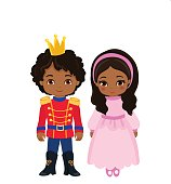 Illustration of very cute Prince and Princess.