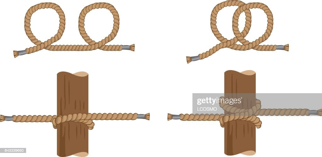Illustration Of With Instruction Making Pig Knot Sailor Knot Ideal