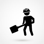 Illustration of work icon on white background