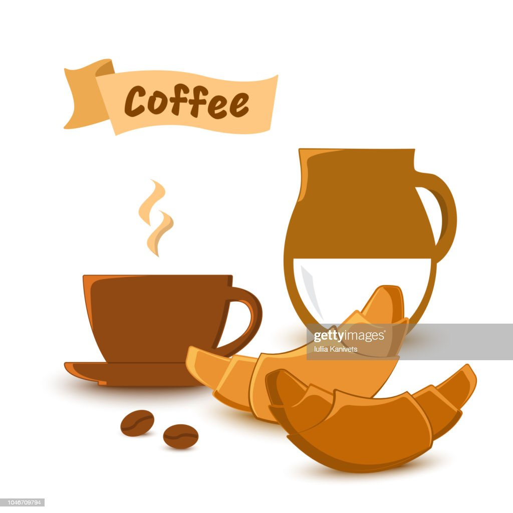 Illustration on coffee theme, vector