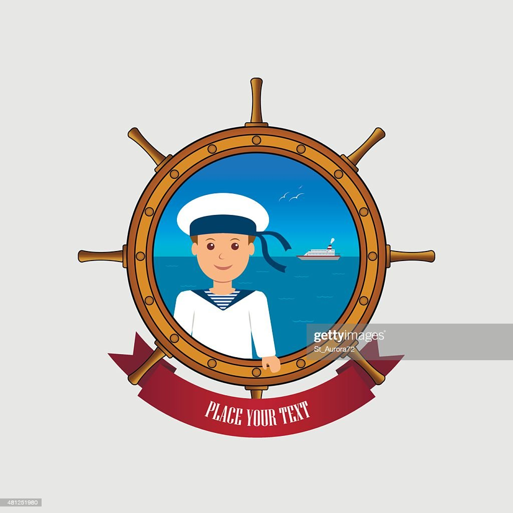 Illustration on the theme of sea travel