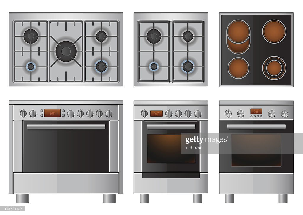 Illustration set of household appliances