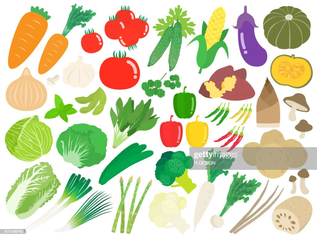Illustration set of vegetables.