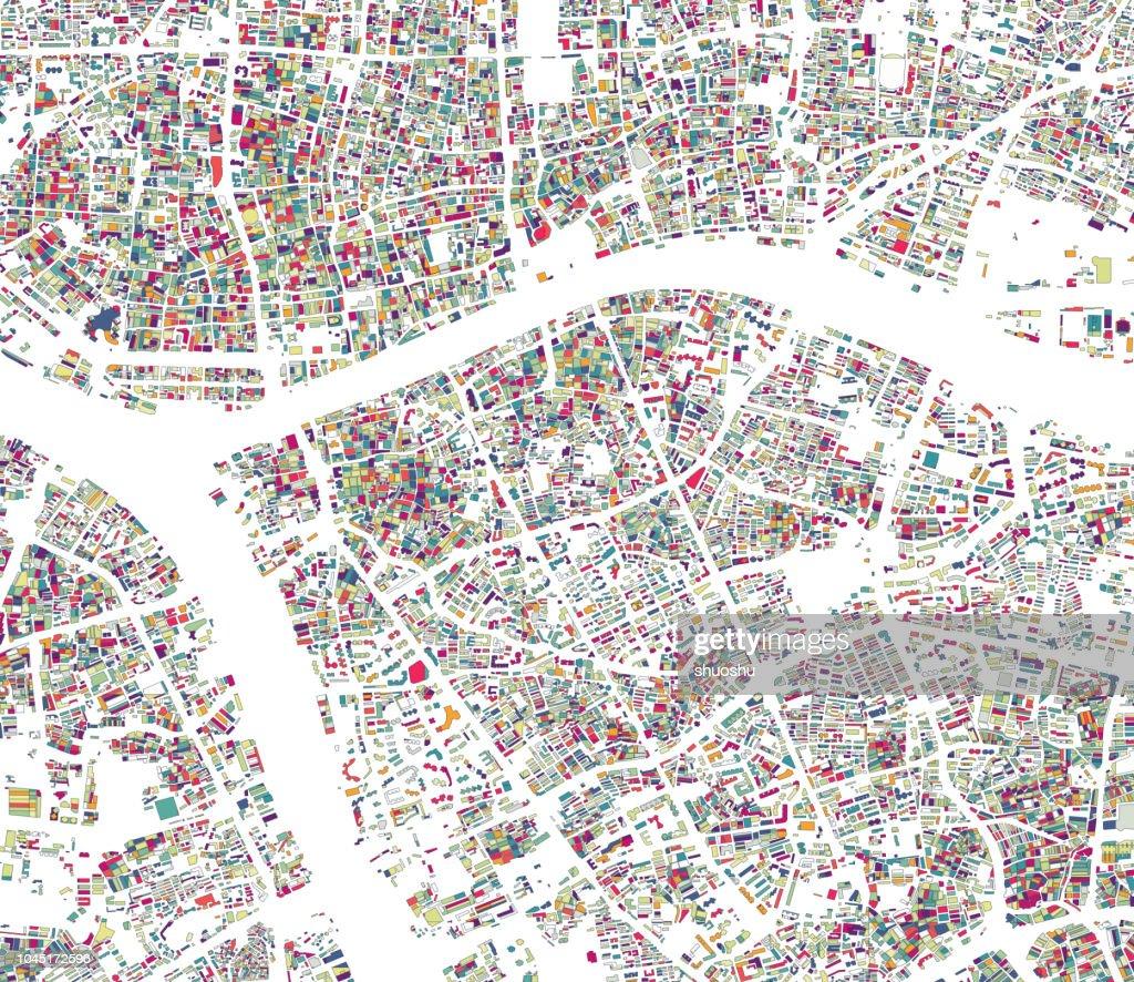 Abbildung Stil Stadtstruktur Karte Hintergrund Guangzhou ...