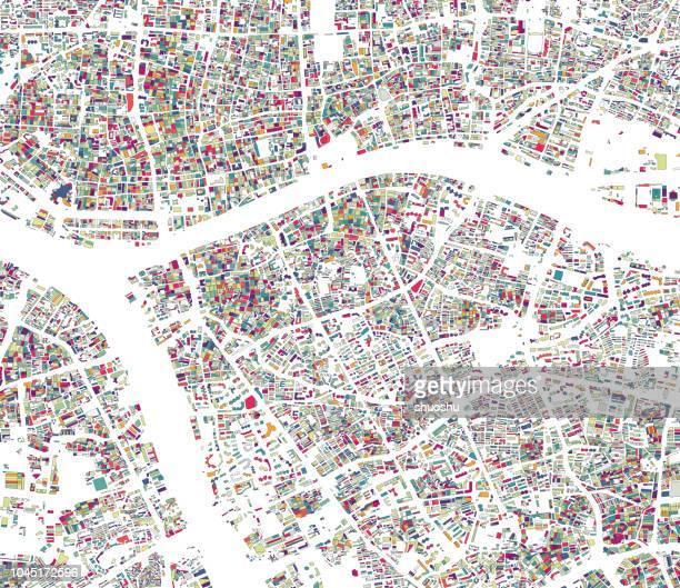 illustration style city structure map background,guangzhou,china - guangzhou stock illustrations