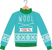 illustration sweater with a pattern on a hanger.