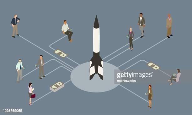 ipo illustration - initial public offering stock illustrations
