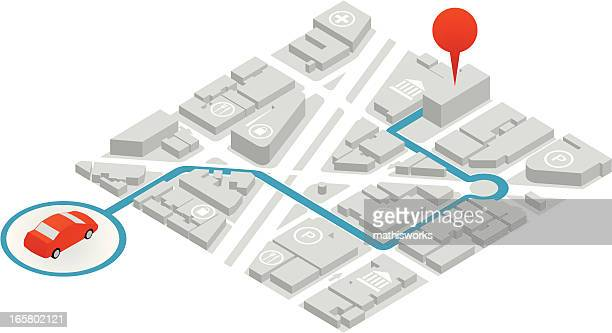 gps illustration - mathisworks vehicles stock illustrations