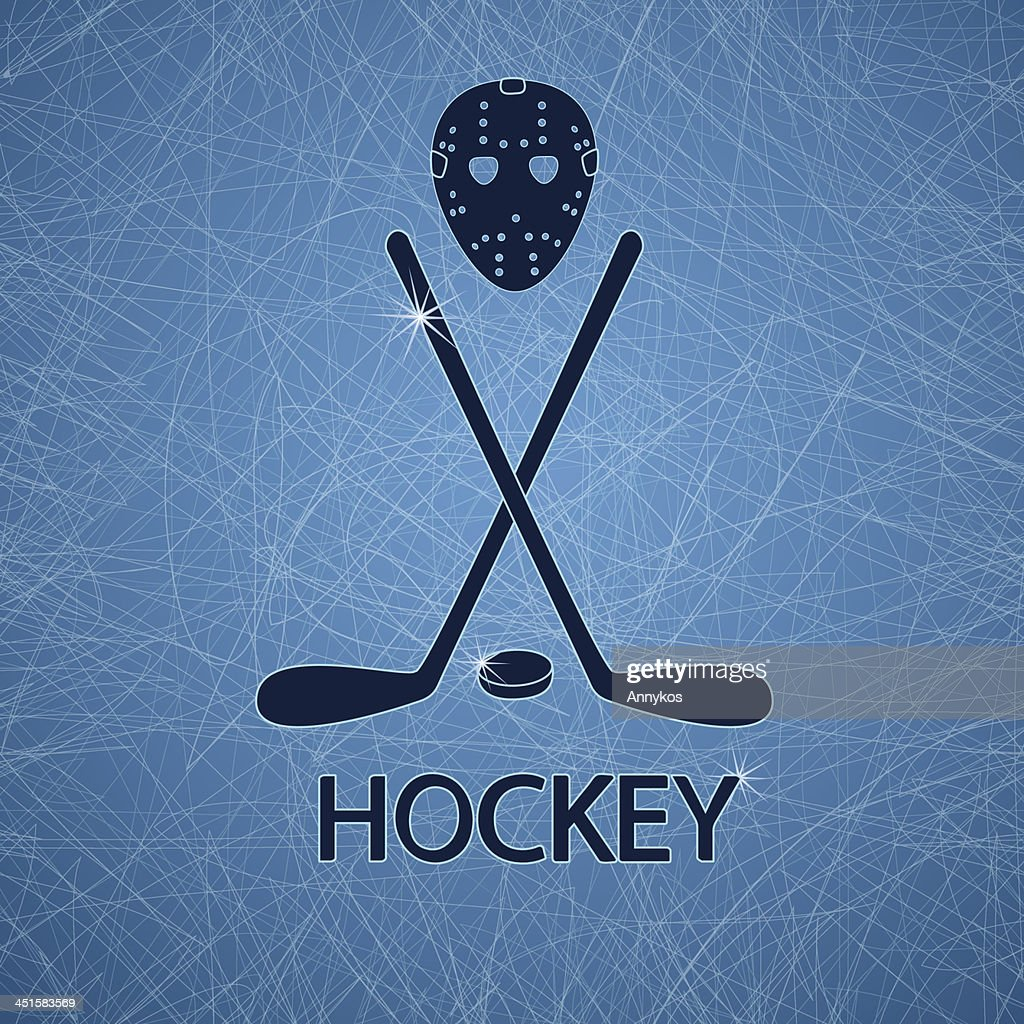 Illustration with hockey accessories