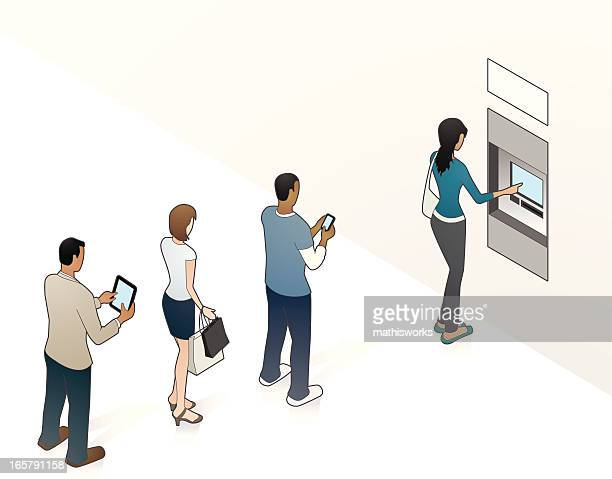 ATM Illustration with People