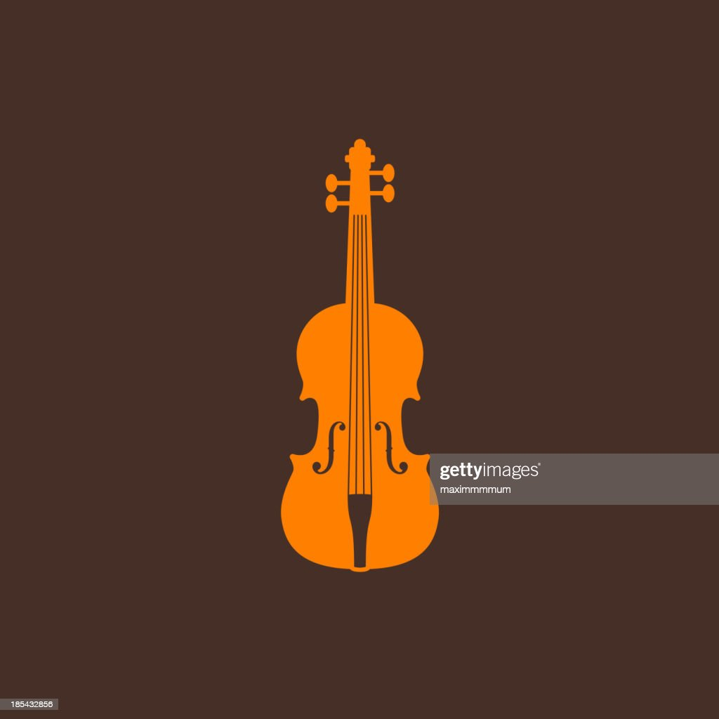 illustration with the violin