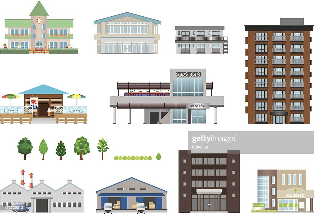 Illustrations of Different building