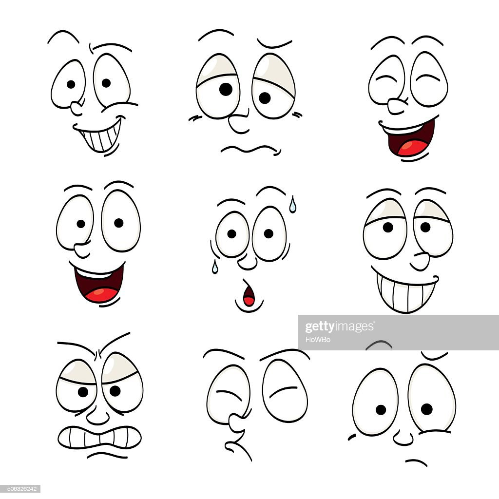 Illustrations of funny faces