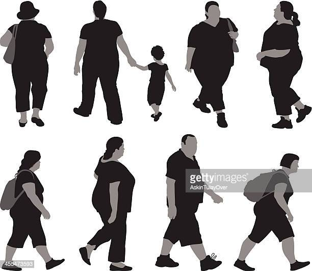 illustrations of overweight people - young adult stock illustrations, clip art, cartoons, & icons