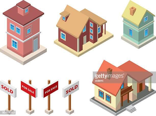 illustrations, cliparts, dessins animés et icônes de real immobilier - vendre